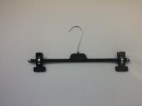 Ladies Adjustable Clip Hanger-Black 200 Per Box