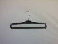"NLS38 14"" Men's Trouser Hanger-Strut-Black Plastic 200 Per Box"