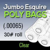 Jumbo Esquire Poly (.00065) 30# roll