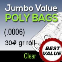Jumbo Value Clear Poly/ 30#gr roll