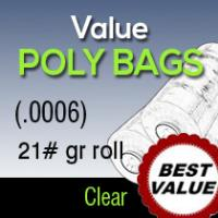 Value Clear Poly/ 21#gr roll