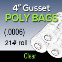 Clear Poly Bags (.0006) 21# roll