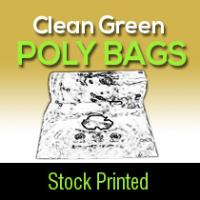 "Printed Poly Bags ""Clean Green"""