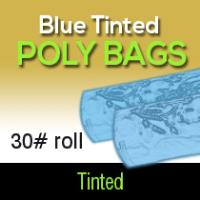 Blue Tinted Poly Bags 30# Roll