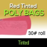 Red Tinted Poly Bags 30# Roll