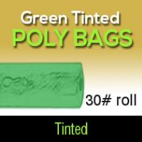 Green Tinted Poly Bags 30# Roll