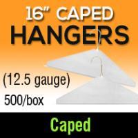 """16"""" Caped Hangers/ 12.5 gauge"""