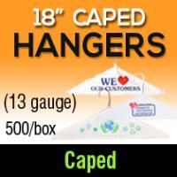 """18"""" Caped Hangers/ 13 gauge"""