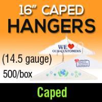 """16"""" Caped Hangers/ 14.5 gauge"""