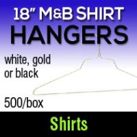 "18"" M & B Ultimate Shirt Hangers (500)"
