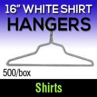 "16"" M & B Shirt Hangers (500)"