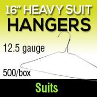 """16"""" Hvy Suit Hangers/12.5ga (500)"""