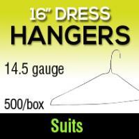 "16"" Dress Hangers/ 14.5ga (500)"