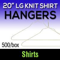 "20"" Large Knit Hangers (500)"