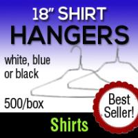 "18"" Imported Shirt Hangers (500)"