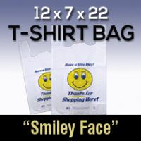12X7X22  TSHIRT BAG SMILEY FACE (Each)
