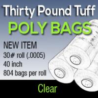 "Thirty Pound Tuff Poly Bags 40"" 804 Bags Per Roll (0005)"
