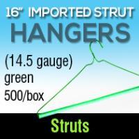 """16"""" Green Imported Strut Hanger 500 bx"""