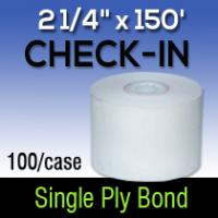 "2 1/4"" X 150' Single Ply White Bond"