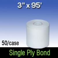 "3"" X 95' Single Ply White Bond"