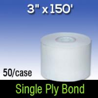 "3"" X 150' Single Ply White Bond"