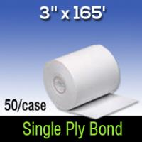 "3"" x 165' Single Ply White Bond"