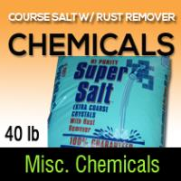 Coarse salt w/ rust remover 40LB