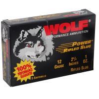 "12 Gauge Wolf Performance 1 1/8oz Power Rifled Slug, 2 3/4"""