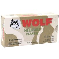 9x18mm Makarov Wolf Military Classic - 94 Grain FMJ - Steel Case