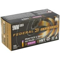9mm Federal Practice & Defend 50/50 Syntech Training MATCH/Federal HST JHP 147 Grain