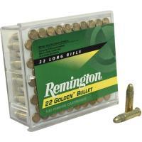 .22LR Remington Golden Bullet 40 Grain HV Plated LRN