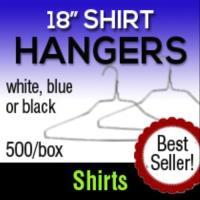 """18"""" White Shirt Hangers"""