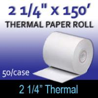 "Thermal Paper Roll - 2 1/4"" x 150'"