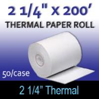"Thermal Paper Roll - 2 1/4"" x 200'"