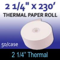 "Thermal Paper Roll - 2 1/4"" x 230'"