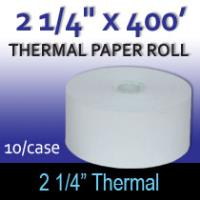 "Thermal Paper Roll - 2 1/4"" x 400'"
