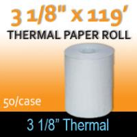 "Thermal Paper Roll - 3 1/8"" x 119'"