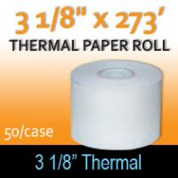 "Thermal Paper Roll - 3 1/8"" x 273'"