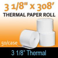 "Thermal Paper Roll - 3 1/8"" x 308'"