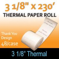 "Thermal Paper Roll - 3 1/8"" x 230' (""Thank You"" Design)"