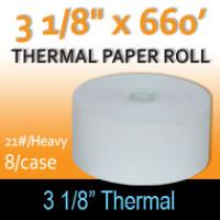 "Thermal Paper Roll - 3 1/8"" x 660' (21#/Heavy)"