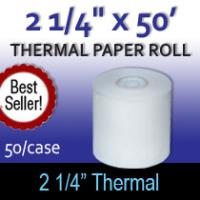 "Thermal Paper Roll - 2 1/4"" x 50'"