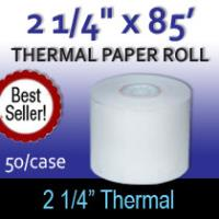 "Thermal Paper Roll - 2 1/4"" x 85'"