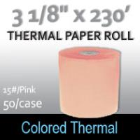 Colored Thermal Roll - 230'/15#/Pink