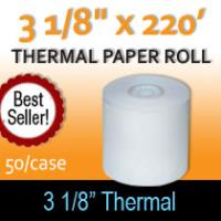 "Thermal Paper Roll - 3 1/8"" x 220'"