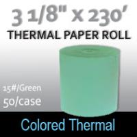 Colored Thermal Roll - 230'/15# Green