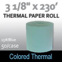 Colored Thermal Roll - 230'/15#/Blue