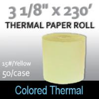 Colored Thermal Roll - 230'/15#/Yellow