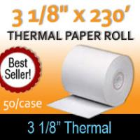 "Thermal Paper Roll - 3 1/8"" x 230'"