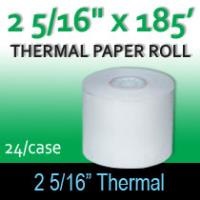 "Thermal Paper Roll - 2 5/16"" x 185'"